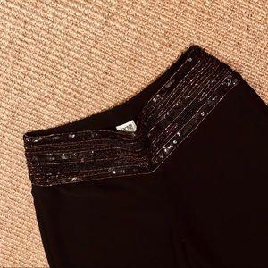 cache | Evening Wear Black Pants- Sequins Waist